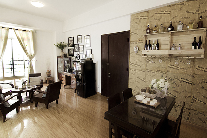 Afterglow of vintage apartment after renovation - Beautiful House No. (3)
