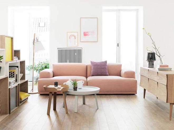 Không gian phòng khách đẹp mĩ mãn với sự hiện diện của gam màu pastel - Nhà Đẹp Số (1)