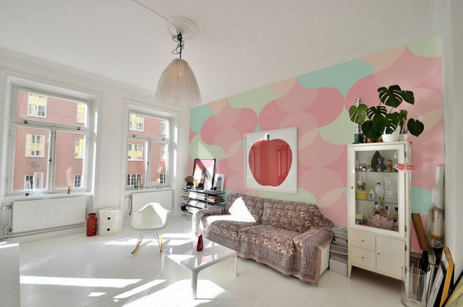 Không gian phòng khách đẹp mĩ mãn với sự hiện diện của gam màu pastel - Nhà Đẹp Số (2)