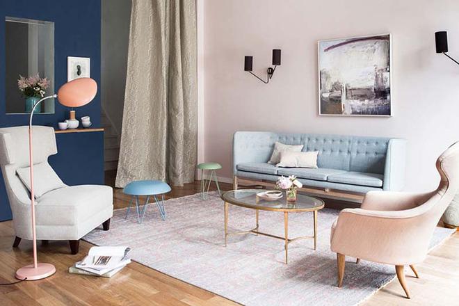 Không gian phòng khách đẹp mĩ mãn với sự hiện diện của gam màu pastel - Nhà Đẹp Số (6)
