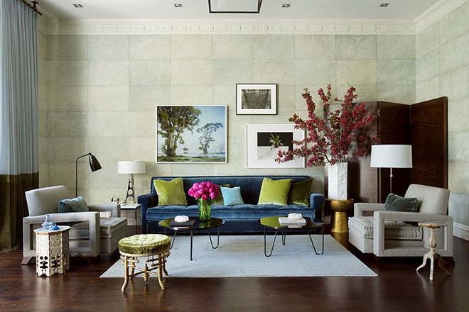 Không gian phòng khách đẹp mĩ mãn với sự hiện diện của gam màu pastel - Nhà Đẹp Số (7)
