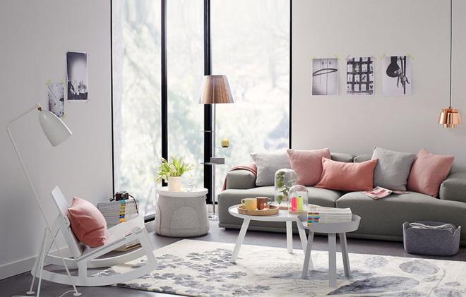 Không gian phòng khách đẹp mĩ mãn với sự hiện diện của gam màu pastel - Nhà Đẹp Số (9)