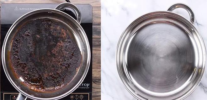 Mách nước mẹo vặt làm sạch nồi, chảo cháy đen bằng muối ăn - Nhà Đẹp Số (3)