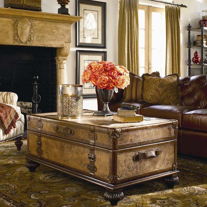 muon kieu ban tra phong khach lam tu vali cu 3 Muôn kiểu bàn trà phòng khách làm từ vali cũ cực đẹp