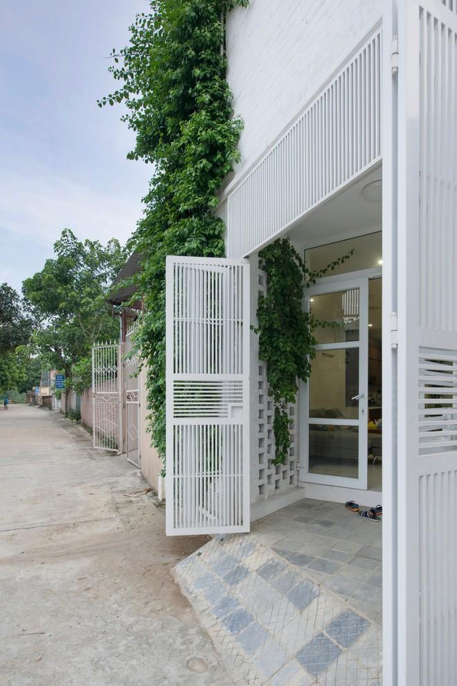 Ngỡ ngàng ngôi nhà đẹp 3 tầng trên mảnh đất xéo ngoại ô Hà Nội - Nhà Đẹp Số (2)