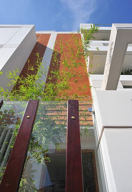 Thiết kế nhà ống 76 m2 độc đáo với hồ bơi trên sân thượng - Nhà Đẹp Số (1)