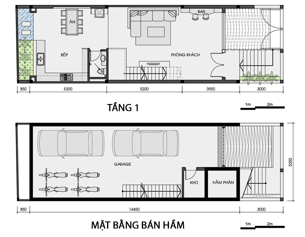 Thiết kế nhà ống 76 m2 độc đáo với hồ bơi trên sân thượng - Nhà Đẹp Số (12)