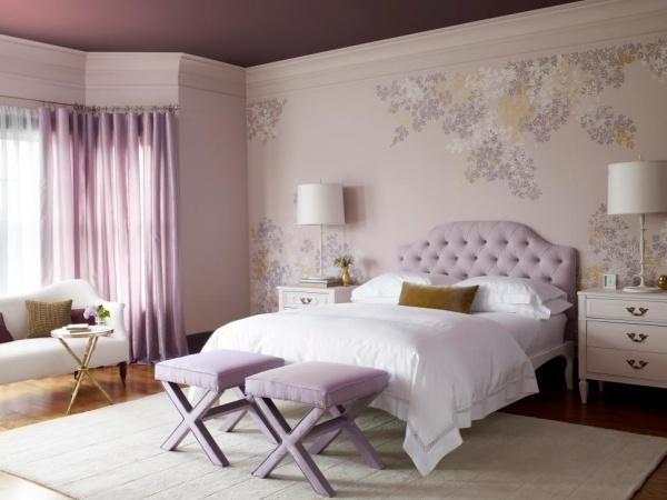 Trang trí phòng ngủ lãng mạn với gam tím mộng mơ - Nhà Đẹp Số (7)
