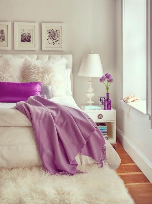Trang trí phòng ngủ lãng mạn với gam tím mộng mơ - Nhà Đẹp Số (8)