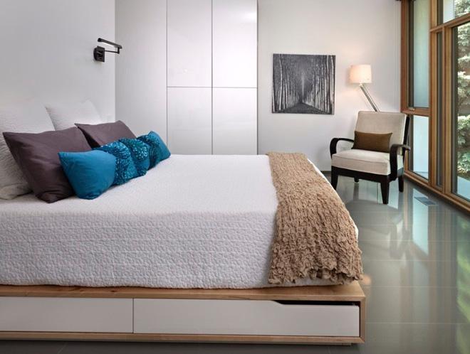 10 tuyệt chiêu giúp không gian phòng ngủ nhỏ trở nên rộng rãi bất ngờ - Nhà Đẹp Số (6)