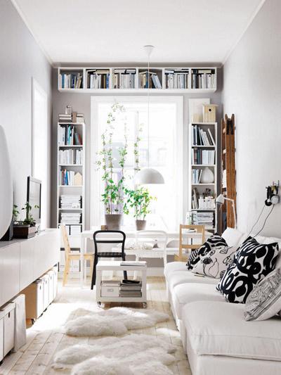 Các cách thiết kế phòng khách siêu hẹp trở nên đẹp và rộng rãi đến khó tin - Nhà Đẹp Số (7)