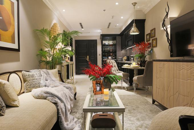 Không gian căn hộ nhỏ nhưng vẫn ấm cúng của nhà thiết kế nội thất Sài thành - Nhà Đẹp Số (5)