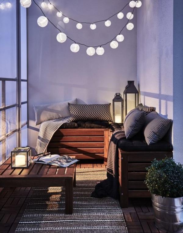 Những mẫu ban công đẹp lung linh nhờ trang trí với đèn - Nhà Đẹp Số (8)