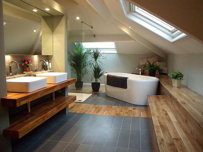 Những mẫu phòng tắm gác mái đẹp ngây ngất ai cũng ao ước sở hữu - Nhà Đẹp Số (10)