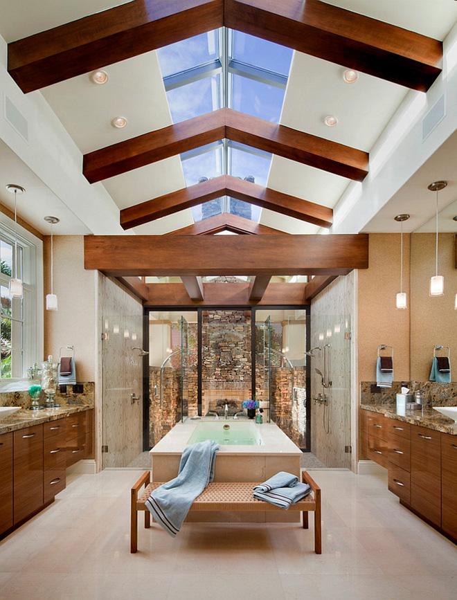 Những mẫu phòng tắm gác mái đẹp ngây ngất ai cũng ao ước sở hữu - Nhà Đẹp Số (11)