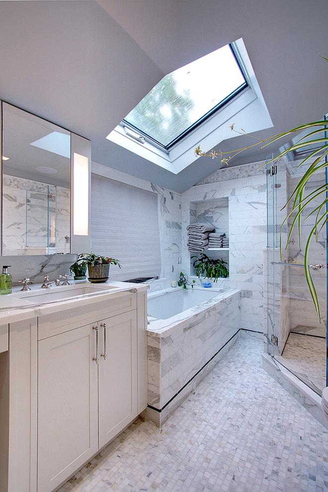 Những mẫu phòng tắm gác mái đẹp ngây ngất ai cũng ao ước sở hữu - Nhà Đẹp Số (13)