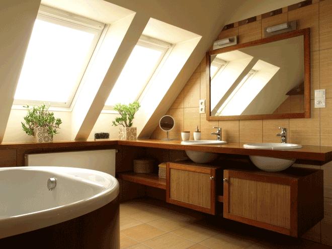 Những mẫu phòng tắm gác mái đẹp ngây ngất ai cũng ao ước sở hữu - Nhà Đẹp Số (2)