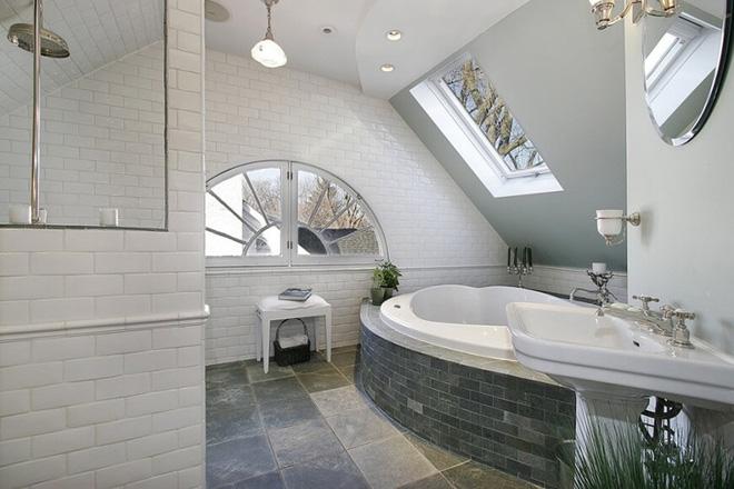 Những mẫu phòng tắm gác mái đẹp ngây ngất ai cũng ao ước sở hữu - Nhà Đẹp Số (8)