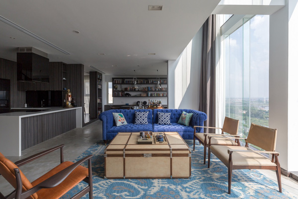 Ngắm mãi không chán căn hộ penthouse 250 m2 nằm trong khu đô thị Ecopark, Hà Nội - Nhà Đẹp Số (1)