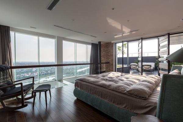 Ngắm mãi không chán căn hộ penthouse 250 m2 nằm trong khu đô thị Ecopark, Hà Nội - Nhà Đẹp Số (11)