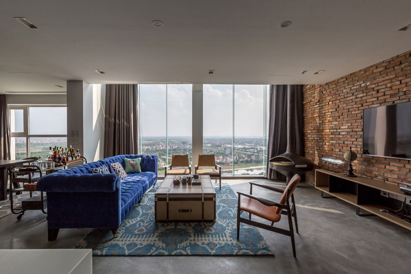 Ngắm mãi không chán căn hộ penthouse 250 m2 nằm trong khu đô thị Ecopark, Hà Nội - Nhà Đẹp Số (2)
