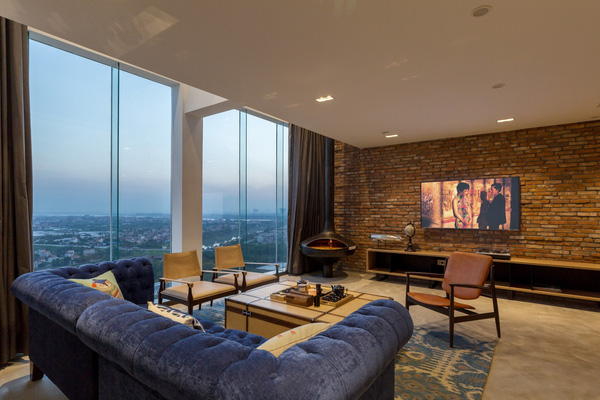 Ngắm mãi không chán căn hộ penthouse 250 m2 nằm trong khu đô thị Ecopark, Hà Nội - Nhà Đẹp Số (3)