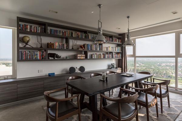 Ngắm mãi không chán căn hộ penthouse 250 m2 nằm trong khu đô thị Ecopark, Hà Nội - Nhà Đẹp Số (5)