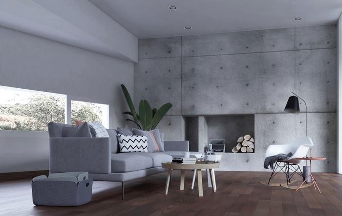 """Những mẫu phòng khách không sơn trát đang """"làm mưa làm gió"""" - Nhà Đẹp Số (10)"""