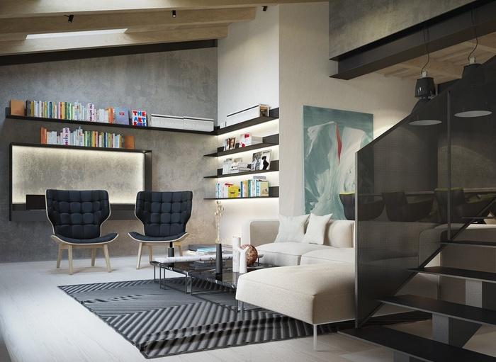 """Những mẫu phòng khách không sơn trát đang """"làm mưa làm gió"""" - Nhà Đẹp Số (12)"""