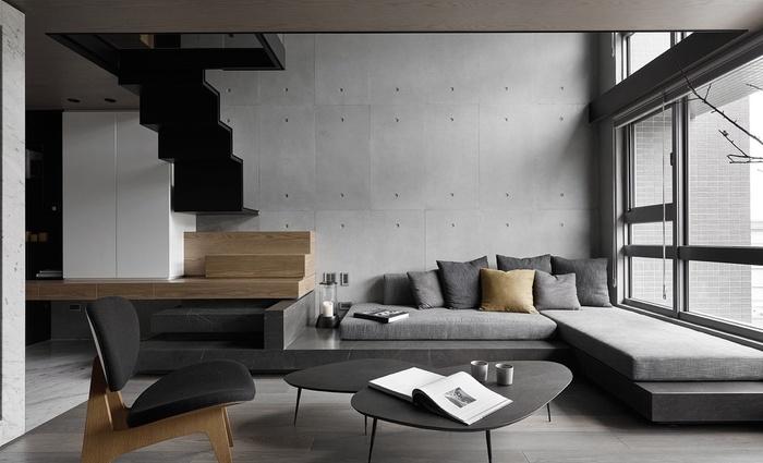 """Những mẫu phòng khách không sơn trát đang """"làm mưa làm gió"""" - Nhà Đẹp Số (2)"""