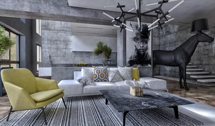 """Những mẫu phòng khách không sơn trát đang """"làm mưa làm gió"""" - Nhà Đẹp Số (3)"""