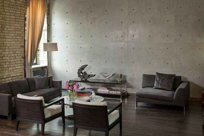 """Những mẫu phòng khách không sơn trát đang """"làm mưa làm gió"""" - Nhà Đẹp Số (5)"""