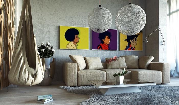 """Những mẫu phòng khách không sơn trát đang """"làm mưa làm gió"""" - Nhà Đẹp Số (7)"""