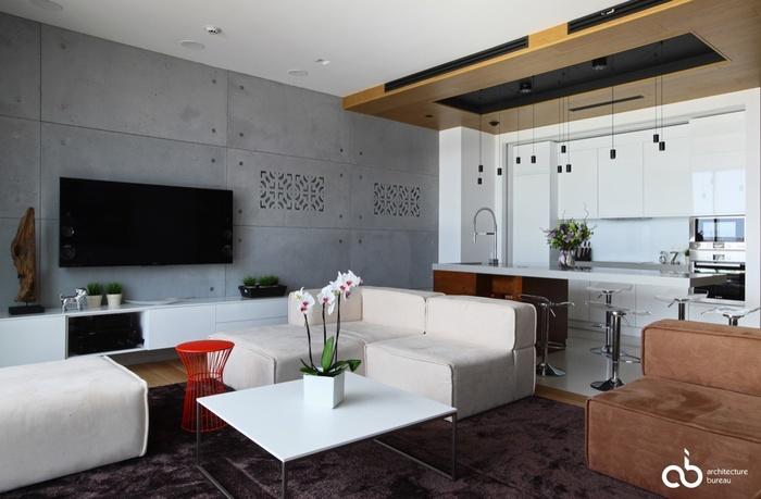 """Những mẫu phòng khách không sơn trát đang """"làm mưa làm gió"""" - Nhà Đẹp Số (9)"""