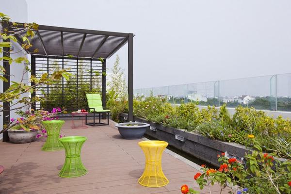 Báo Tây khen không tiếc lời công trình nhà phố 3 tầng có sân vườn cực đẹp ở Sài Gòn - Nhà Đẹp Số (16)