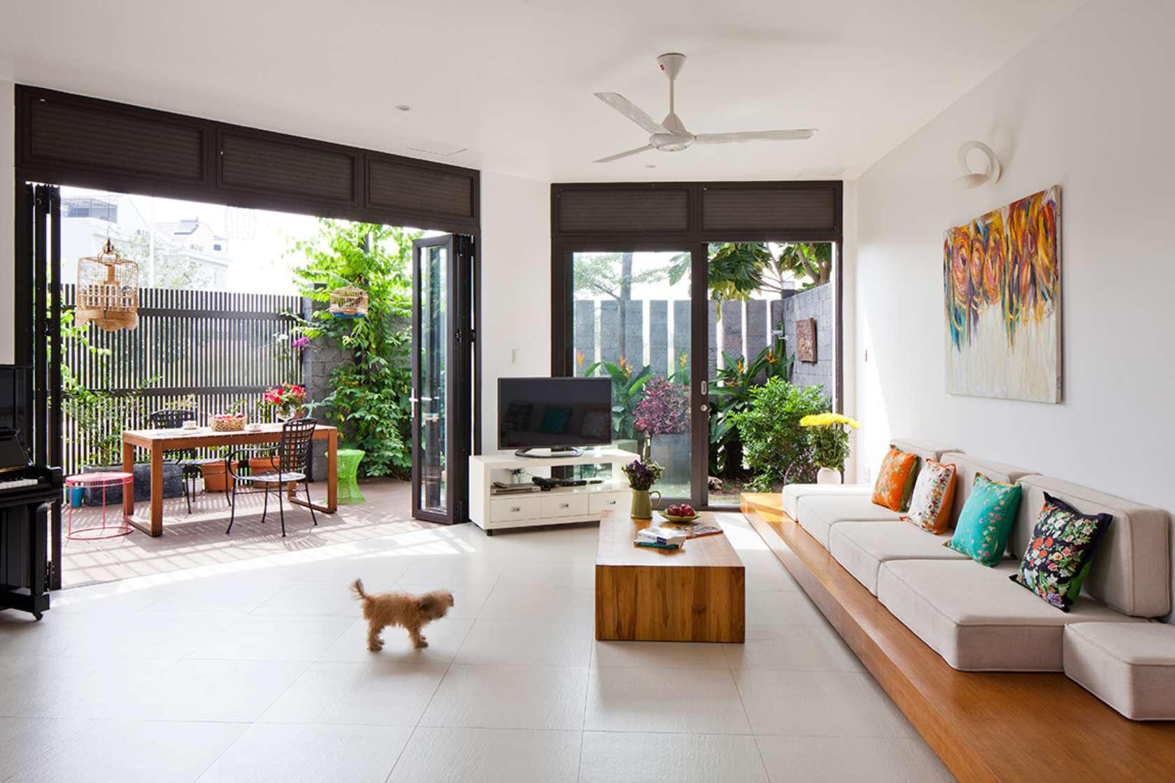 Báo Tây khen không tiếc lời công trình nhà phố 3 tầng có sân vườn cực đẹp ở Sài Gòn - Nhà Đẹp Số (6)