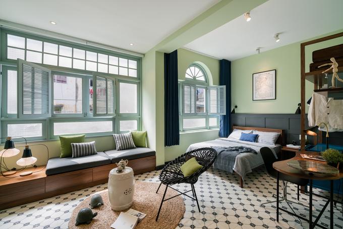 Cải tạo nội thất căn hộ 36 m2 thành không gian sống mang phong cách Đông Dương - Nhà Đẹp Số (4)