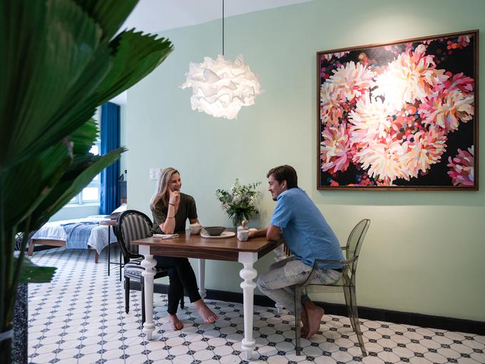 Cải tạo nội thất căn hộ 36 m2 thành không gian sống mang phong cách Đông Dương - Nhà Đẹp Số (7)
