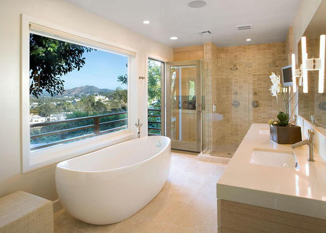 Những mẫu bồn tắm đẹp giúp không gian thư giãn tỏa sáng - Nhà Đẹp Số (1)