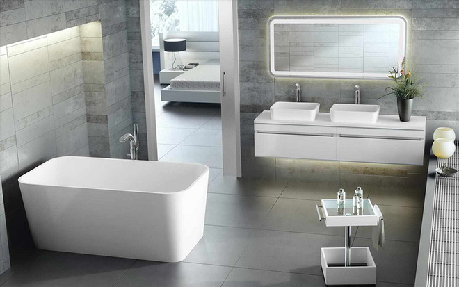Những mẫu bồn tắm đẹp giúp không gian thư giãn tỏa sáng - Nhà Đẹp Số (10)