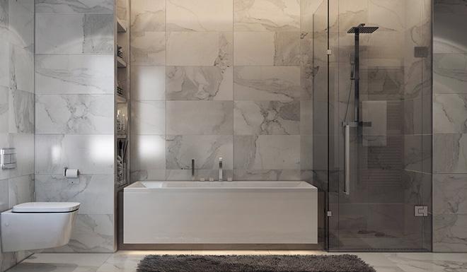Những mẫu bồn tắm đẹp giúp không gian thư giãn tỏa sáng - Nhà Đẹp Số (9)