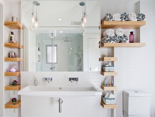 4 cách tận dụng tối đa không gian phòng tắm nhỏ - Nhà Đẹp Số (1)