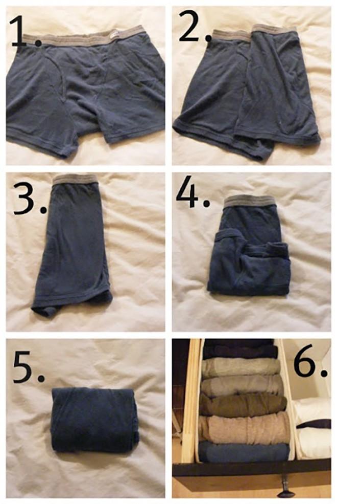 """7 mẹo gấp quần áo nhanh """"thần sầu"""" cho tủ đồ luôn gọn gàng - Nhà Đẹp Số (3)"""