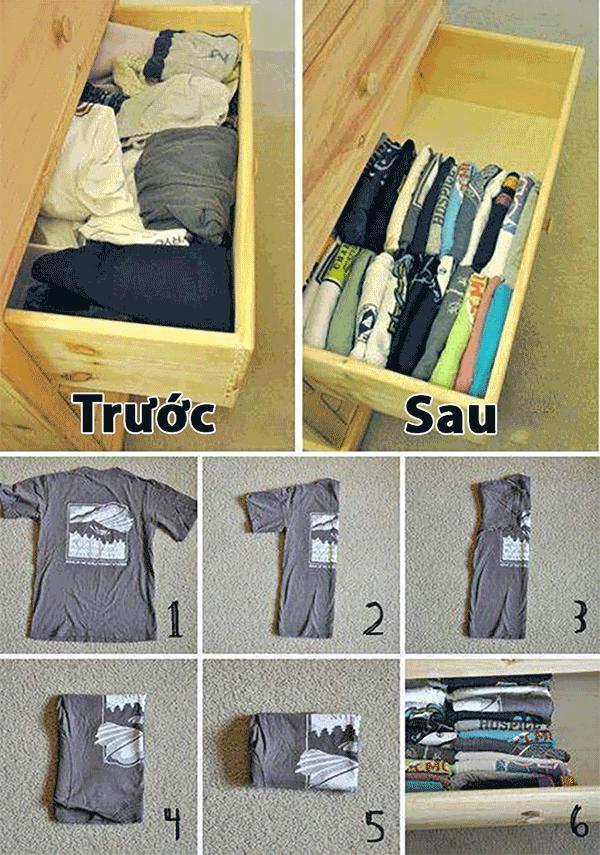 """7 mẹo gấp quần áo nhanh """"thần sầu"""" cho tủ đồ luôn gọn gàng - Nhà Đẹp Số (7)"""