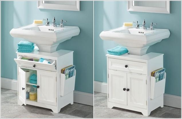Giải pháp lưu trữ đồ thông minh cho các không gian phòng tắm chật - Nhà Đẹp Số (4)