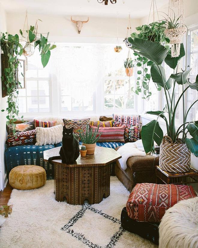 Những mẫu phòng khách mang phong cách Bohemian đẹp mê mẩn - Nhà Đẹp Số (11)