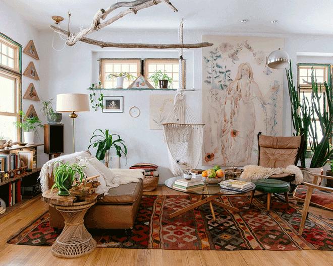 Những mẫu phòng khách mang phong cách Bohemian đẹp mê mẩn - Nhà Đẹp Số (3)