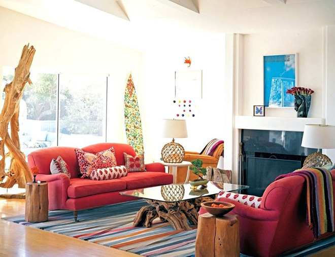 Những mẫu phòng khách mang phong cách Bohemian đẹp mê mẩn - Nhà Đẹp Số (4)