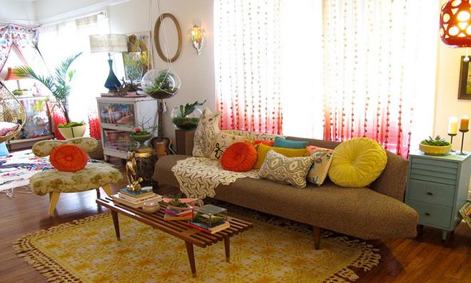 Những mẫu phòng khách mang phong cách Bohemian đẹp mê mẩn - Nhà Đẹp Số (5)