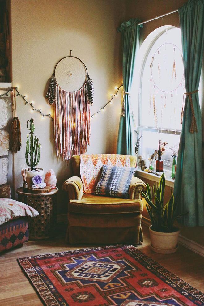 Những mẫu phòng khách mang phong cách Bohemian đẹp mê mẩn - Nhà Đẹp Số (6)